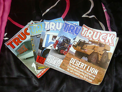 Lot of 5 vintage issues TRUCK magazines 1983 and 1984