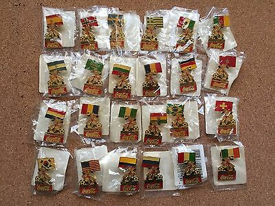 Complete 24 PC Set Nations Coca Cola World Cup '94 Pins FIFA Soccer 1994