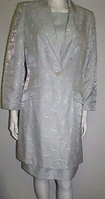 Ladies Dress & Long Length Jacket Size 14/16 Wedding Guest Ocassions Worn Once