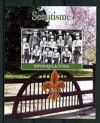 Chad 2016 CTO Scouting Lord Baden-Powell 1v M/S Scoutisme Boy Scouts Stamps