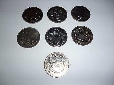 1872 -1972 Football F.A.Cup Centenary Team Badge / Emblem Collection Coin Lot