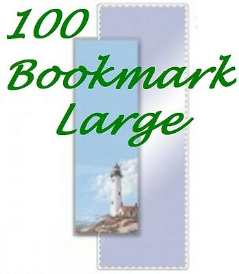 Bookmark Large 100 Pack Laminating Pouches Sheets 5 mil  2-3/8 x 8-1/2