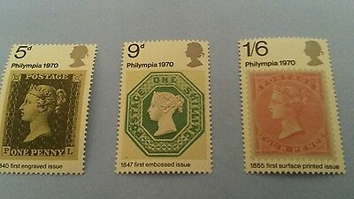 1970 Sg835-837 Philympia. Unmounted Mint.