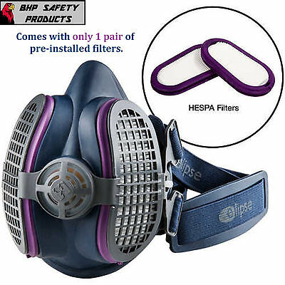 Gvs Elipse Half Mask Respirator With Hespa + P100 Filters Size Medium/large