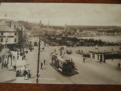 Tram ,rothesay, Nr Largs, Bute, Promenade Friths Series Postcard Posted 1912