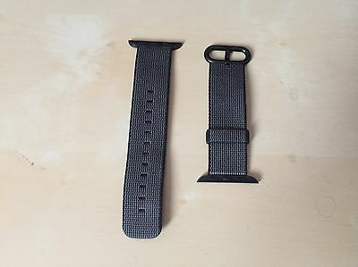Bracelet Nylon Apple Watch 1 Et 2 38 Mm Noir