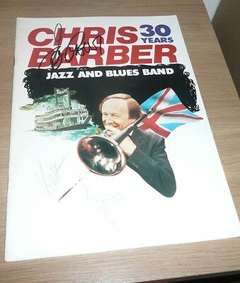 Chris Barber 30 Years UK Tour Programme 1982? Autographed Free Postage