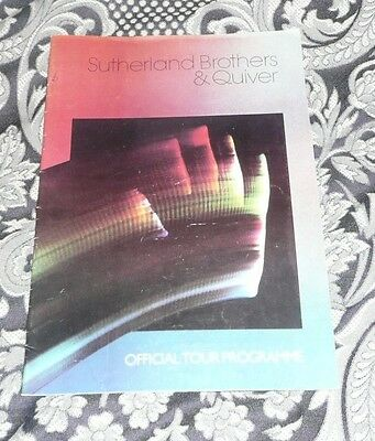 Sutherland Brothers & Quiver UK Tour Programme Moon FREE POSTAGE