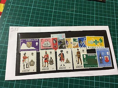 Small Collection of Modern Gibraltar stamps unused  (315)