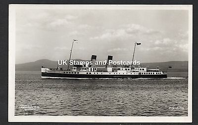 Paddle Steamer Juno Unposted RP Card By W Robertson & Co Gourock See Scan