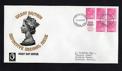 1971 Machin Stitched Booklet Pane SG X851l Cameo Stamps First Day Cover See Scan