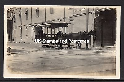 Barbados Horse Drawn Tram Unposted Card See Scans  Empire Theatre Poster Etc