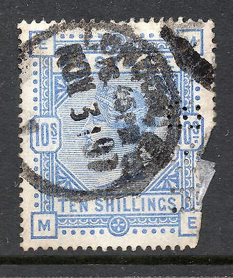 Queen Victoria 10/- SG 183/184 Used Perfin With Faults! Cat £525.00 As Used