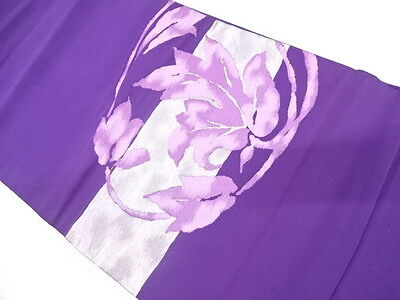Antique Japanese Nagoya Obi For Kimono, Beautiful Craft Material, Silk, Purple