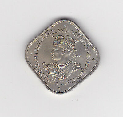 1966 Guernsey William I Ten Shilling Coin - About Unc (A3)