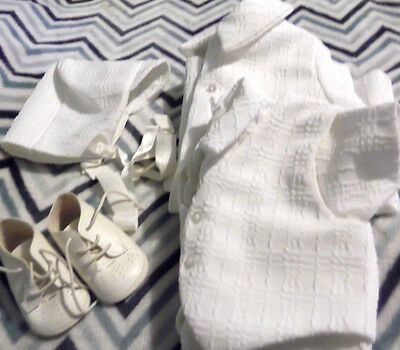 Vintage Baby Boy's Christening Outfit - 5 piece - 3-6 months