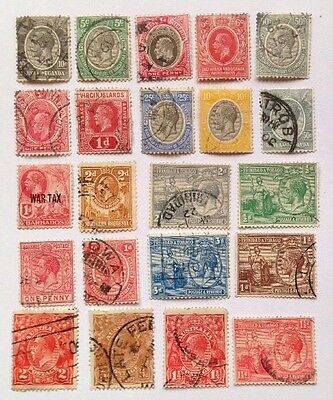 COMMONWEALTH -GEORGE V.  (1) Used Selection 22 Stamps