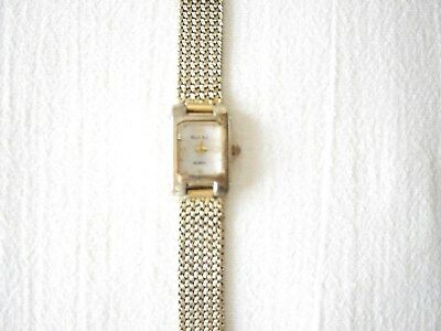Peck & Peck Gold Tone Watch W Mop Face - New Battery - Vintage -#Pcp08