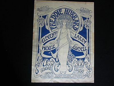 Freddie Hubbard Super Rare 1970's Concert Poster Larry Coryell Ucsd San Diego