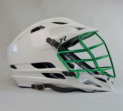 Cascade R - KELLY GREEN CHROME Facemask - Lacrosse Helmet