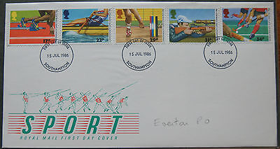 Sport Royal Mail First Day Cover 1986