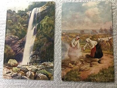 2 x Old Postcards - Tuck's Postcards, New Zealand