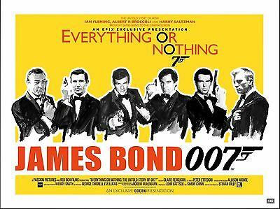 """Everything or Nothing 007 James Bond 16"""" x 12"""" Repro Movie Poster Photograph"""