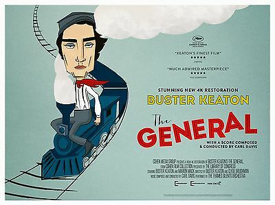 """The General Buster Keaton 16"""" x 12"""" Reproduction Movie Poster Photograph"""