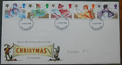 Christmas 1985 First Day Cover Pantomime Theme