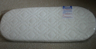 MOSES BASKET MATTRESS QUILTED COVER (CORRAQUILT) 74x29cmBRAND NEW