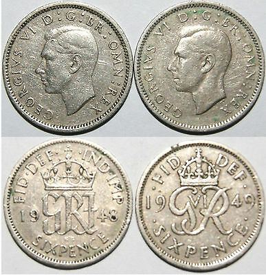 George Vl Sixpence Coins