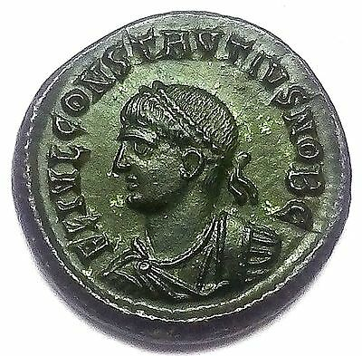 Nº 45.follis Constancio.mint:heraclea.much Better In Hand.