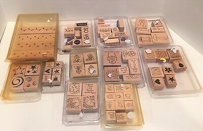 Stampin Up Lot of 11 Sets Rubber Stamps