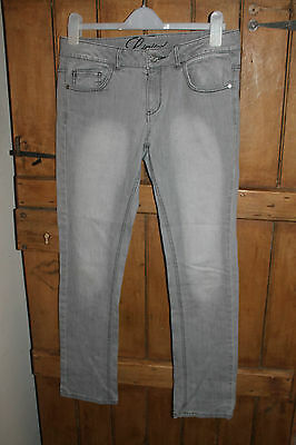 M&S Marks & Spencer Ladies Grey Washed Denim Straight Leg Jeans Size 12