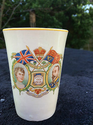 Vintage 1935 King George V Queen Mary Silver Jubilee Beaker Cup Commemorative