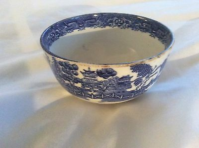 Vintage Willow Pattern Sugar Basin by Wood & Sons, England