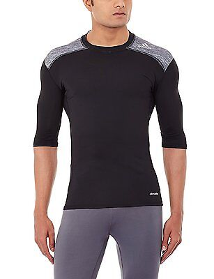 Adidas Techfit Short Sleeve Compression Baselayer T-Shirt  BLACK  NEW.