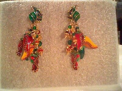 Lunch At The Ritz Hot Peppers Earrings-Pierced Post