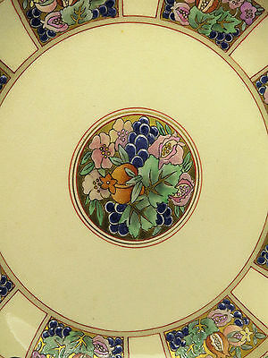 Early 20th Cent Beautifully Decorated Unusual Satsuma Dish Panelled Decoration