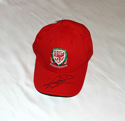 Gareth Bale Signed Wales Football Cap with COA