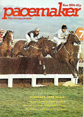 Pacemaker Horse Racing Magazine November 1974