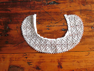 Vintage French white lace collar detachable cotton size 40/UK size 10 lovely7cm