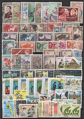 Laos Beau Mot 129 Timbres 1950-1992 Differen Oblit/neufs Lot 129 Stamps Used/mnh