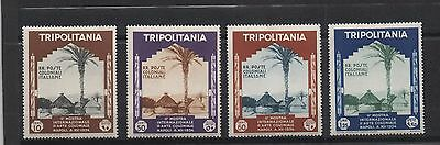 Tripolitaine Tripolitania Libye Libya Arte Coloniale 1934 4 Stamps  Mh/neufs Rr!