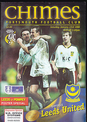 1998/99 PORTSMOUTH V LEEDS UNITED 23-01-1999 FA Cup 4th Round
