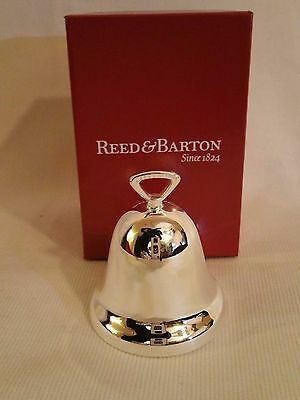 Reed and Barton 2016 Annual Christmas Ornament Metal Ringing Bell - NEW!