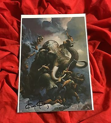 THE WARRIOR~SCI FI~FPG COLOSSAL CARD SIGNED BY CONAN+KISS ARTIST KEN KELLY #17
