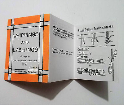 Whippings & Lashings, Knots for Everybody. Girl Guides Association 1978 leafltet