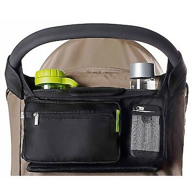 BEST STROLLER ORGANIZER for Smart Moms Fits All Strollers Premium Deep Cup Ho...