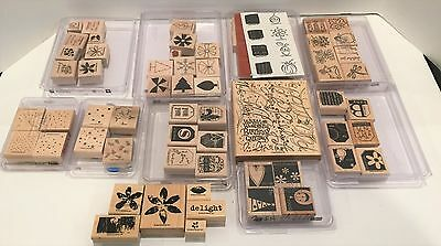 Stampin Up Mixed Lot Rubber Stamps Sets 11